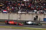 2019年F1第3戦中国GP シャルル・ルクレール(フェラーリ)とバルテリ・ボッタス(メルセデス)
