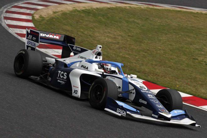 ルーキーながらデビューレースでポールポジションを獲得した牧野任祐(TCS NAKAJIMA RACING)