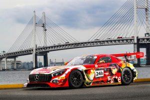 ル・マン/WEC | チームがスパ24時間に投じるFateカラーのメルセデスAMG GT3。左ドアに描かれているのは主要キャラクターの遠坂凛