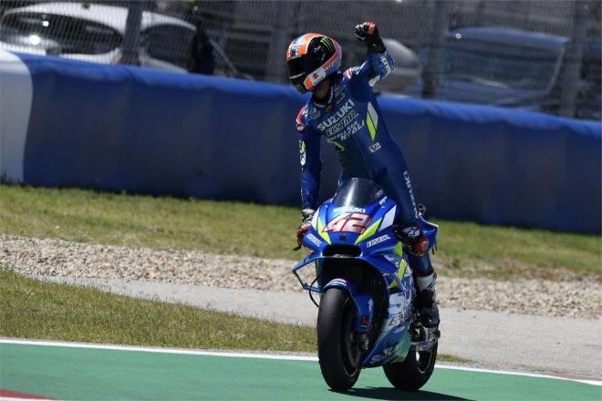 MotoGP第3戦アメリカズGPで優勝を飾ったアレックス・リンス(チーム・スズキ・エクスター)