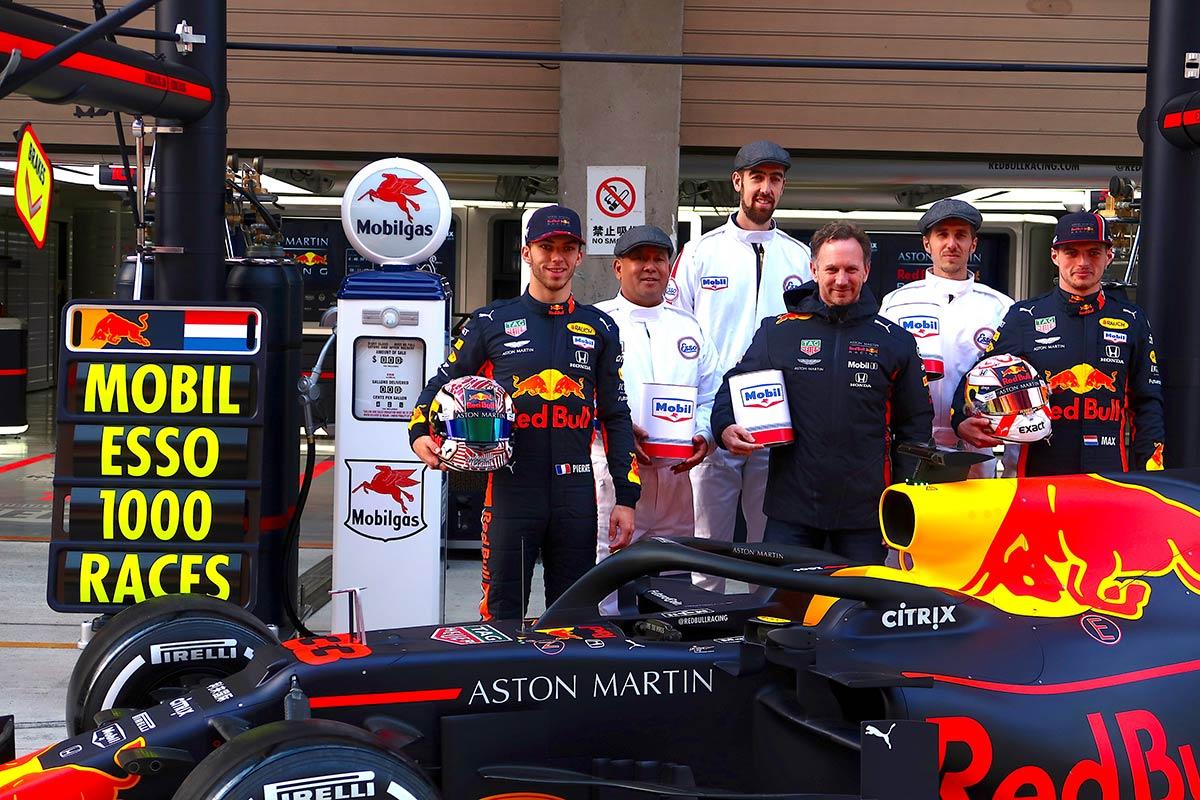 レッドブルとエクソンモービルがF1の1000回目レースを祝福