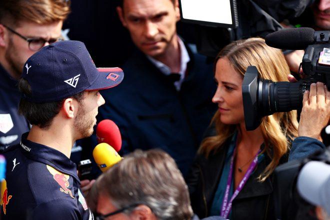2019年F1第4戦アゼルバイジャンGP木曜 メディアからのインタビューにこたえるピエール・ガスリー(レッドブル・ホンダ)