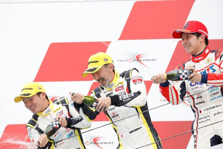 国内レース他 | 86/BRZ第2戦:初2ヒート制の1戦で服部尚貴が2017年以来の勝利。第1ヒートは阪口良平が制す