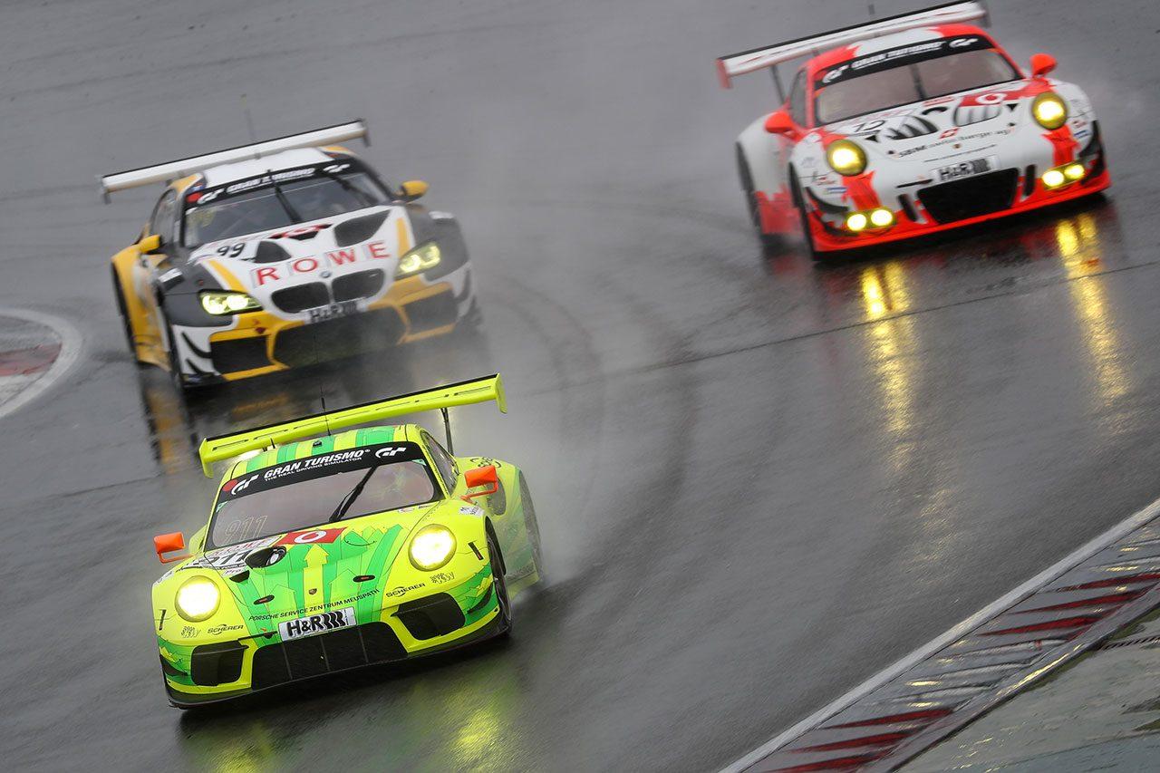 VLN3:KONDO RacingのニッサンGT-Rが予選2番手も雨に泣く。バンドウ×NOVELのレクサスは23位