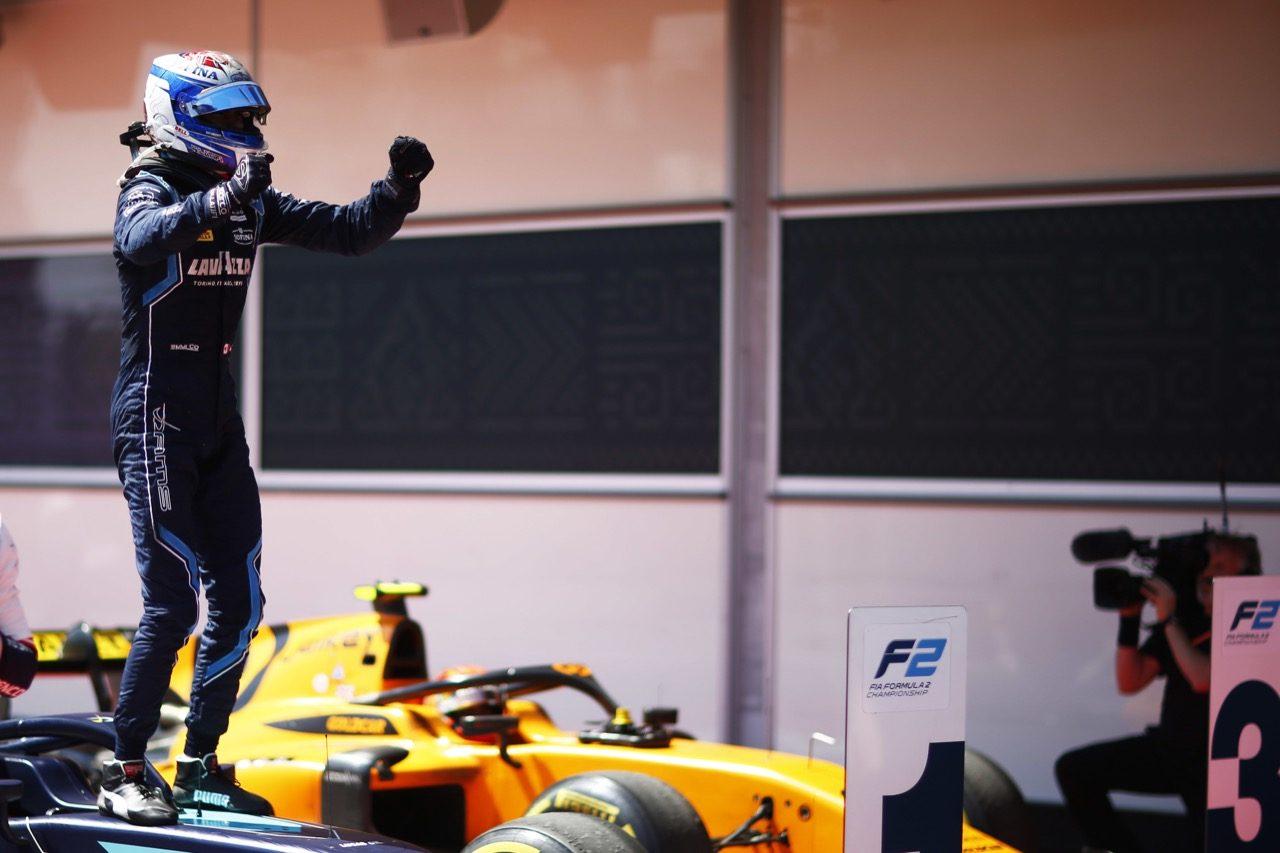 FIA-F2第2戦アゼルバイジャン レース2:7台がリタイアするなかラティフィが2勝目。松下は完走するもポイントには届かず