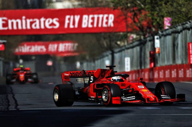 2019年F1第4戦アゼルバイジャンGP セバスチャン・ベッテル(フェラーリ)