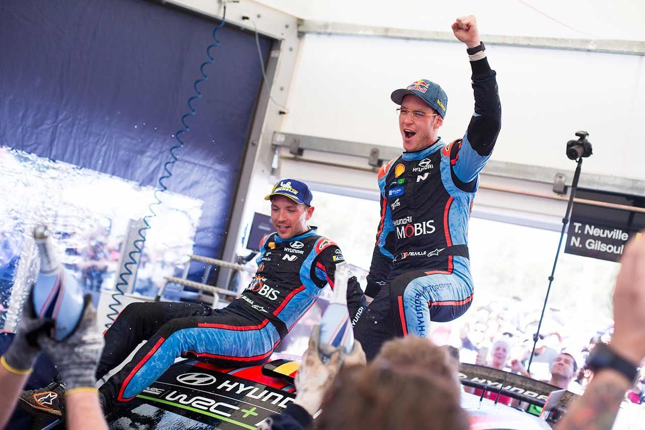 WRC第5戦アルゼンチンを制したティエリー・ヌービル(ヒュンダイi20クーペWRC)