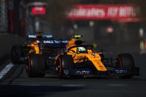 F1 | ノリス、戦略が奏功せずチームメイトにポジションを譲る形に「それでもダブル入賞はうれしい」:マクラーレン F1アゼルバイジャンGP日曜