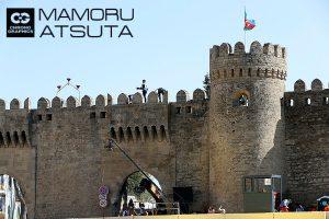 F1 | 【ブログ】Shots!バクーで目を引く立派な城壁、登って撮るのは命がけ!?/F1第4戦アゼルバイジャンGP