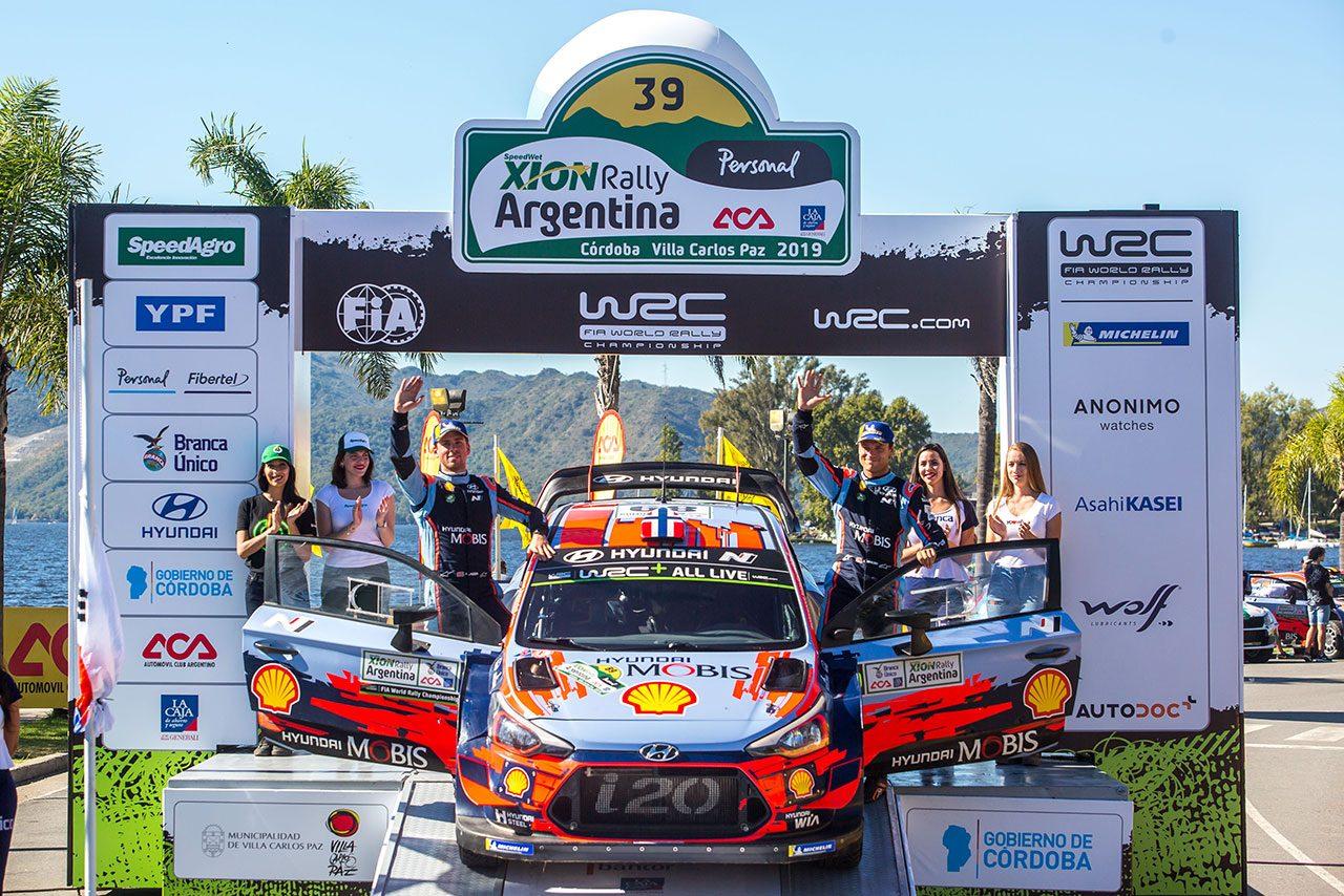 2019年のWRC第5戦アルゼンチンを制したティエリー・ヌービル(ヒュンダイi20クーペWRC)