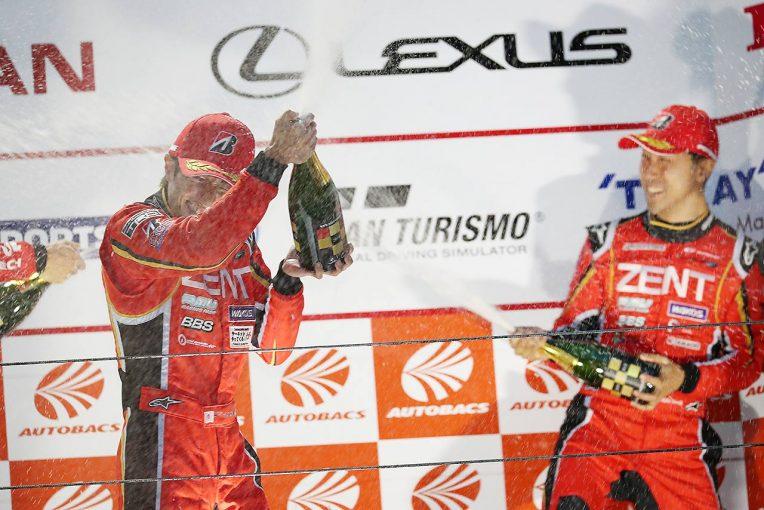スーパーGT   総監督就任2戦目のZENT立川祐路「新体制でも勝ったぞ、というのが率直な気持ち」/GT500優勝会見