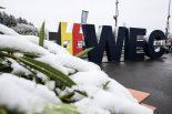 スパ・フランコルシャンは予選日から決勝日の朝にかけて雪が降り積もった
