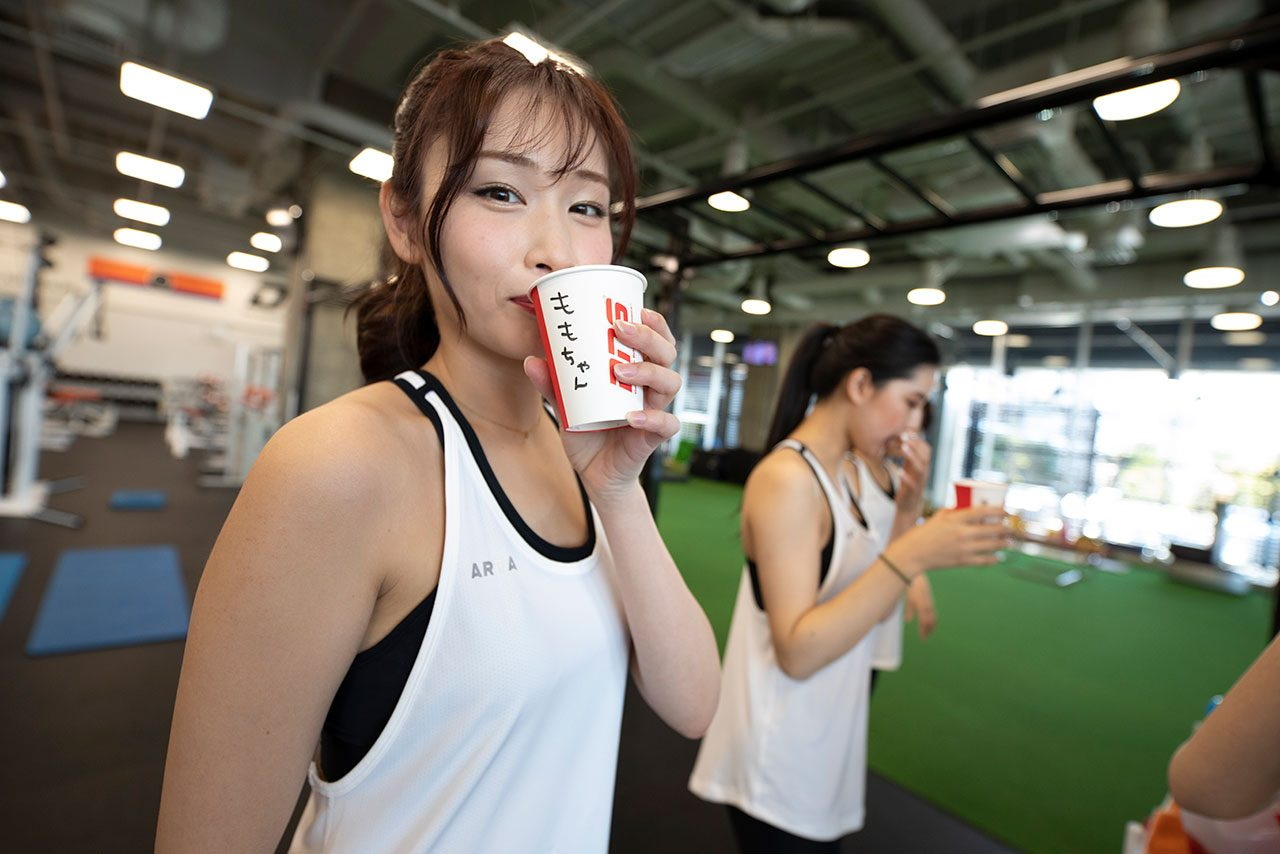 DOME ATHLETE HOUSEで行われたトレーニングの様子