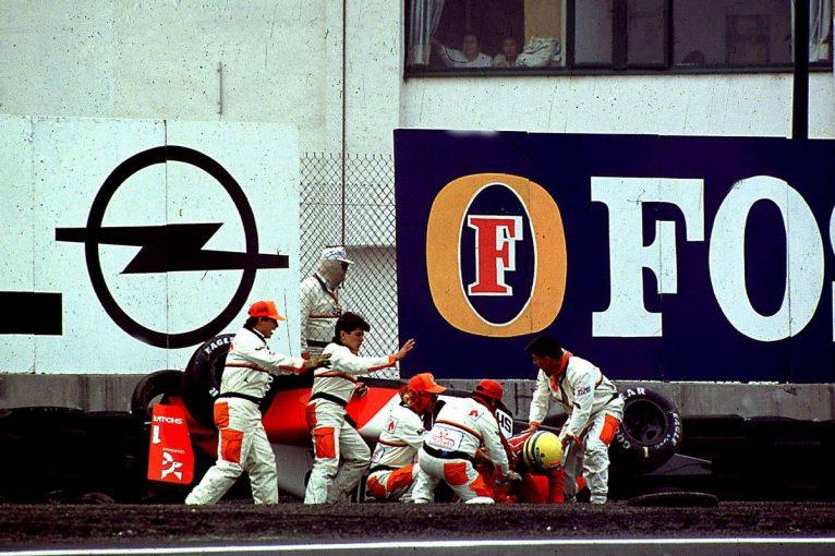 F1 | 【アイルトン・セナの思い出】PART11:マシンが横転する大クラッシュ後も危険を承知でF1に参戦