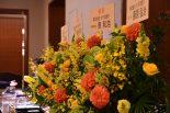 CarGuy Racing壮行会には、株式会社ルーフの取引先から多くの花が贈られた。