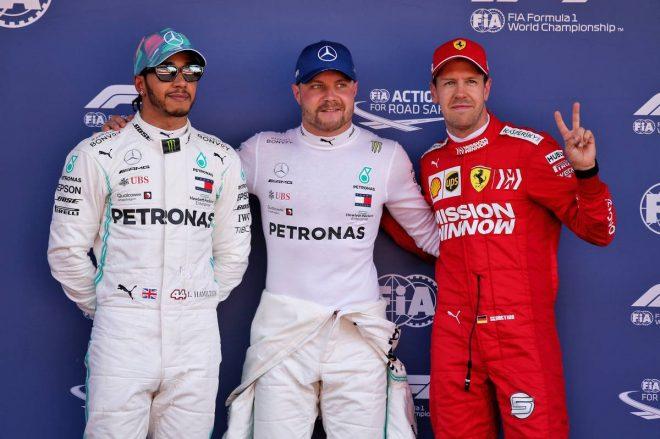 2019年F1第5戦スペインGP予選 PP:バルテリ・ボッタス、2番手:ルイス・ハミルトン、3番手:セバスチャン・ベッテル