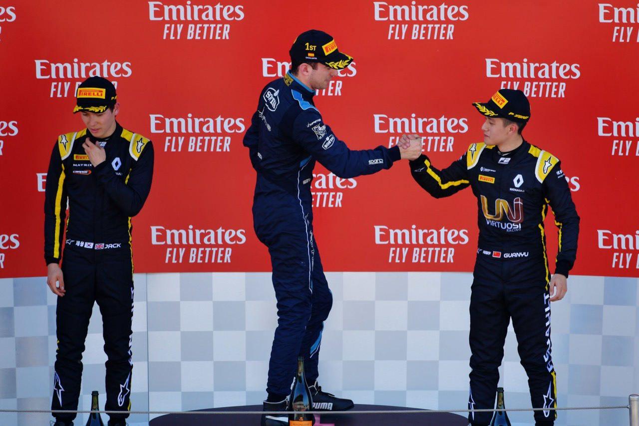 FIA-F2第3戦スペインレース1:ラティフィが終盤に逆転し3勝目。松下あと一歩届かず