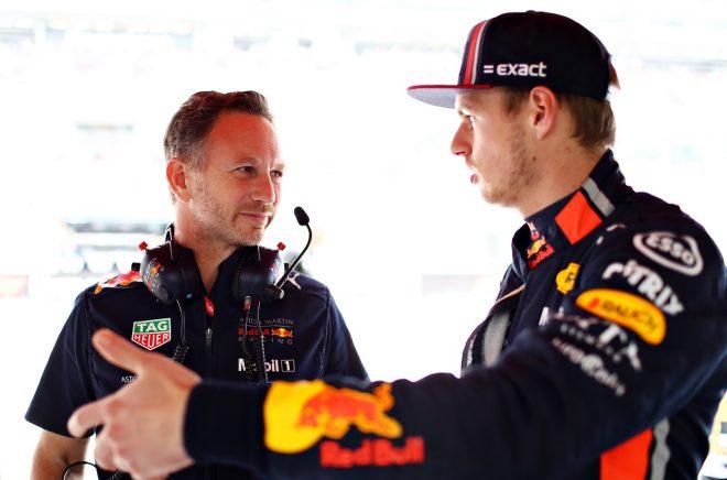 2019年F1第5戦スペインGP マックス・フェルスタッペンとクリスチャン・ホーナー代表(レッドブル・ホンダ)