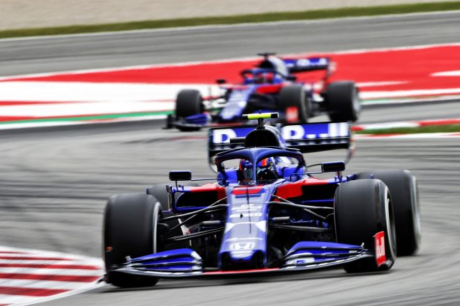 2019年F1第5戦スペインGP アレクサンダー・アルボンとダニール・クビアト(トロロッソ・ホンダ)