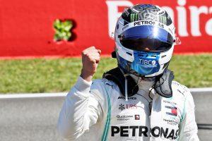 F1   ボッタスがハミルトンに0.634秒の大差でポールを獲得「フェアな優勝争いをしたい」:メルセデス F1スペインGP土曜