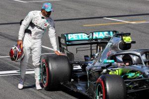 F1   ハミルトンの予選大敗の要因をチームが説明「黄旗に端を発したバッテリー問題が影響」:メルセデス F1スペインGP土曜