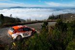 WRC2クラスの首位に浮上した勝田貴元(フォード・フィエスタR5)