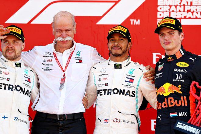F1第5戦スペインGP 優勝はルイス・ハミルトン、2位バルテリ・ボッタス、3位マックス・フェルスタッペン