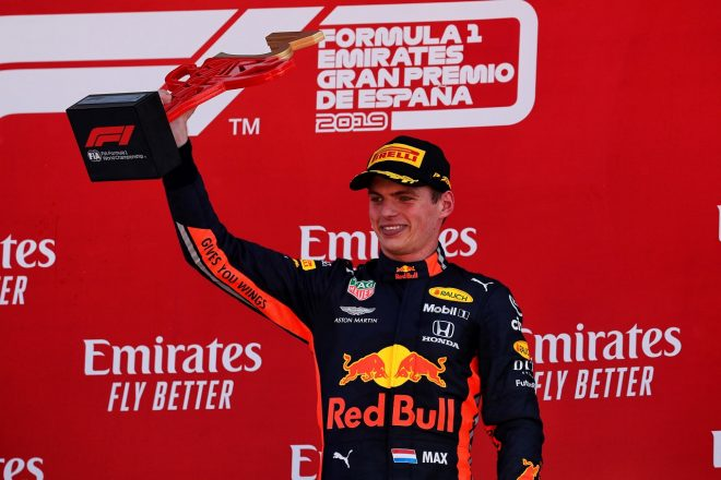 2019年F1第5戦スペインGP マックス・フェルスタッペン(レッドブル・ホンダ)が3位表彰台を獲得