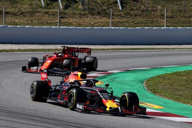 2019年F1第5戦スペインGP ベッテルを抑えきって3位をつかんだフェルスタッペン(レッドブル・ホンダ)