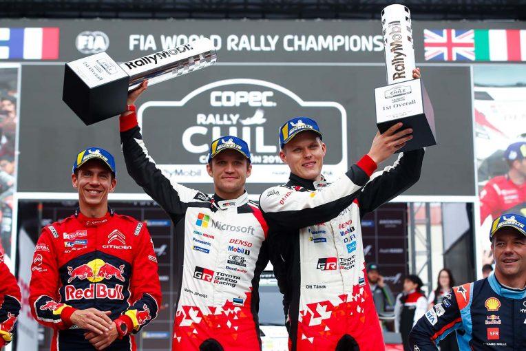ラリー/WRC | WRCチリ:トヨタのタナクが2019年シーズン2勝目。総合2位の新旧チャンピオン争いはオジエに軍配