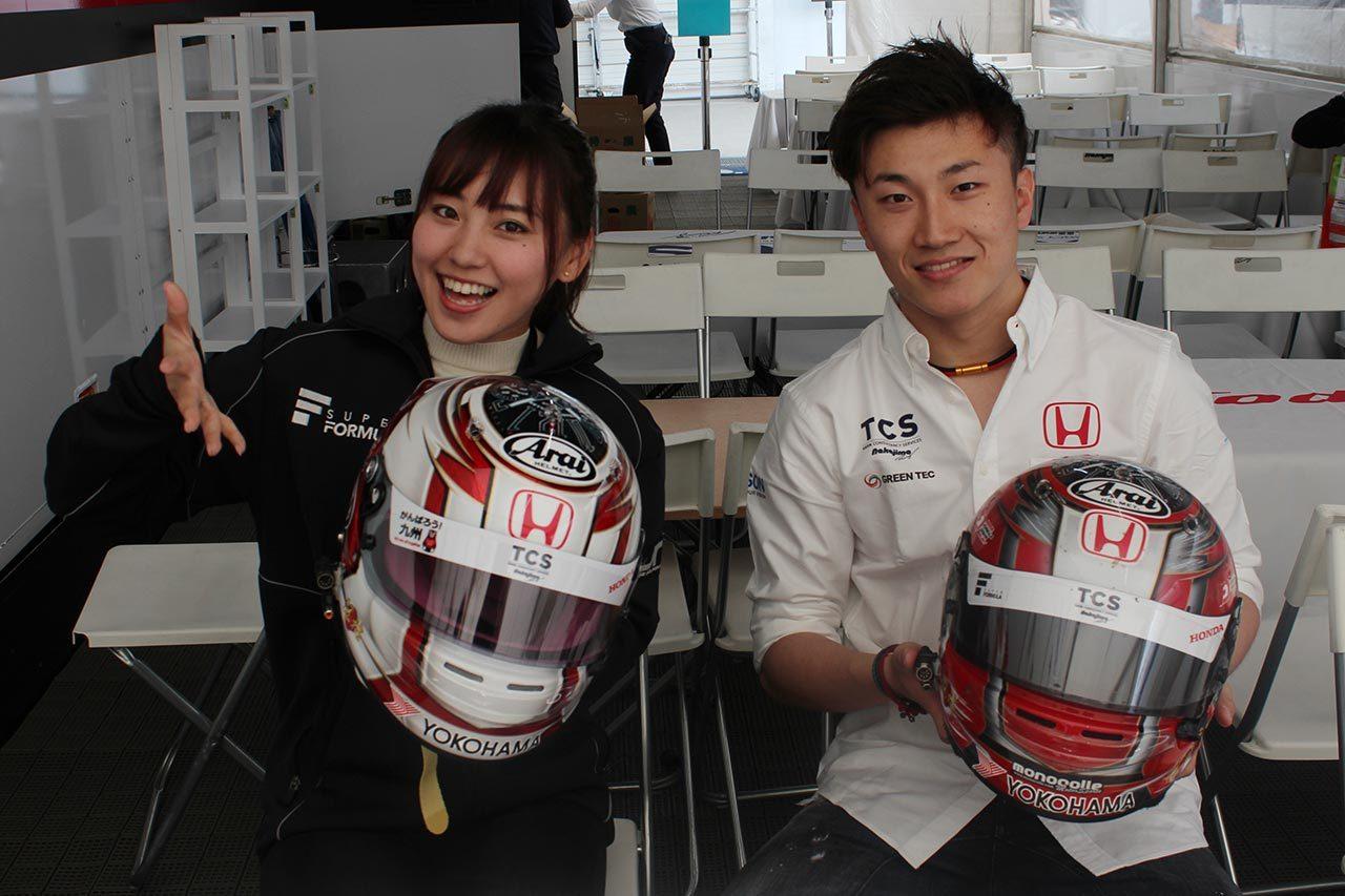 【ヘルメットはドライバーの顔】「漢字で書かれた名前に注目してほしい」牧野任祐(TCS NAKAJIMA RACING)編/全日本スーパーフォーミュラ選手権