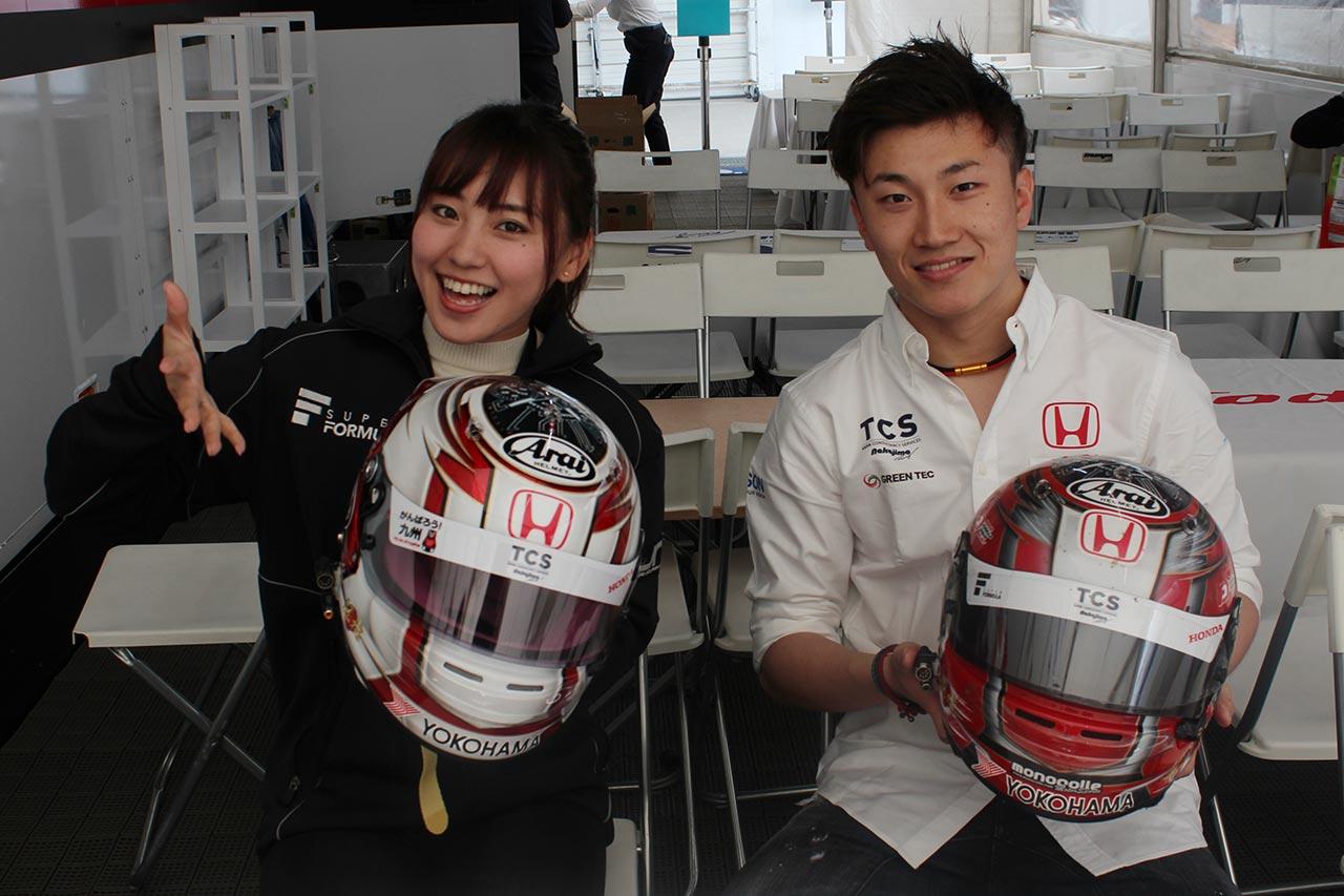 【ヘルメットはドライバーの顔】「漢字で書かれた名前に注目してほしい」牧野任祐(TCS NAKAJIMA RACING)編