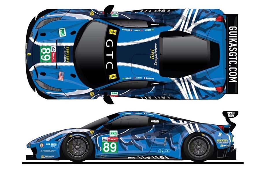 ル・マン24時間:北米フェラーリの雄がイメージ刷新! 驚きのマシンカラーリング発表