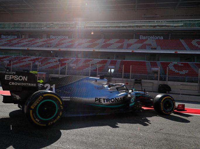 F1 | 【F1バルセロナテスト2日目・タイム結果】メルセデスのマゼピンがトップタイム。レッドブル・ホンダ、再びトラブルでストップ