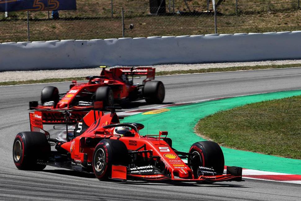 2019年F1第5戦スペインGP セバスチャン・ベッテル, シャルル・ルクレール(フェラーリ)