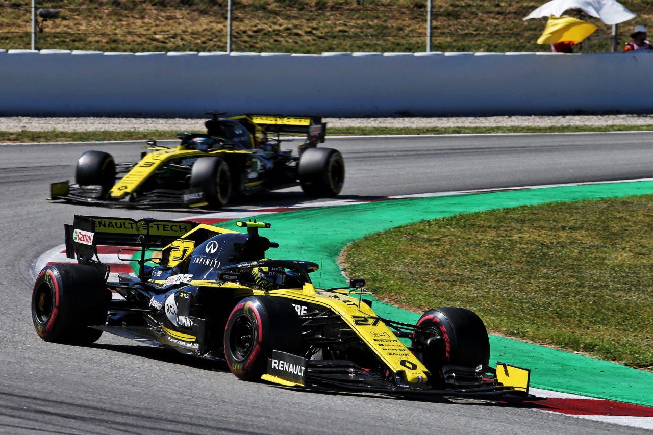2019年F1スペインGPでのヒュルケンベルグとリカルド