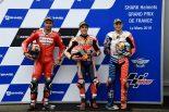 MotoGP | マルケス、転倒後の走行は「レースに向けた準備」/MotoGP第5戦フランスGP 予選トップ3コメント
