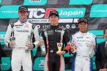 TCRジャパンシリーズ第1戦オートポリス サンデーシリーズの表彰台