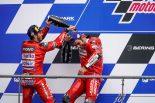 ドゥカティ、MotoGPフランスGPで表彰台の2角を占めるも「マルケスと争うには改善が必要」とドヴィツィオーゾ