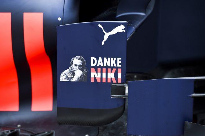 2019年F1第6戦モナコGP レッドブルRB15・ホンダにラウダ追悼のメッセージ