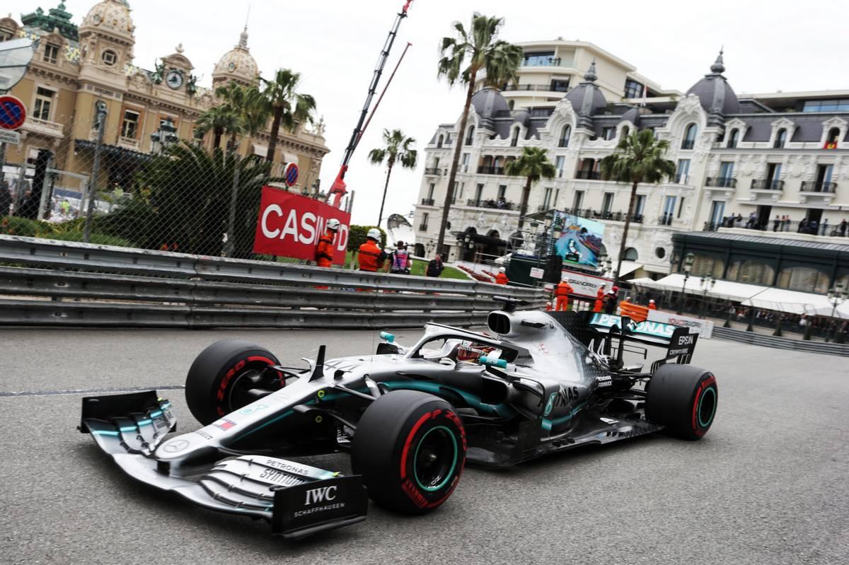 F1   F1第6戦モナコGP FP1:トップはハミルトン、レッドブル・ホンダのフェルスタッペンが僅差で2番手