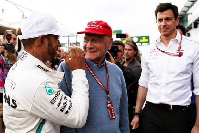 F1   メルセデスF1代表、同郷のラウダの死に悲痛な思い「この48時間、まるで自分が自分ではないようだった」