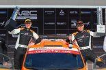 2019年WRC第6戦ラリー・チリ、WRC2クラスを制した勝田貴元とコドライバーのダニエル・バリット