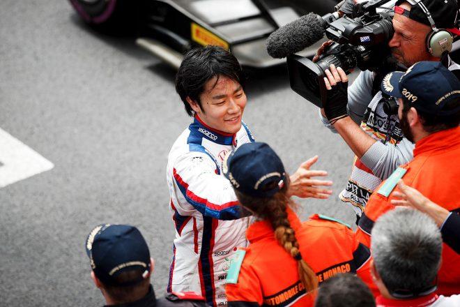 FIA-F2第4戦モナコ レース1 松下信治(カーリン)が3位表彰台
