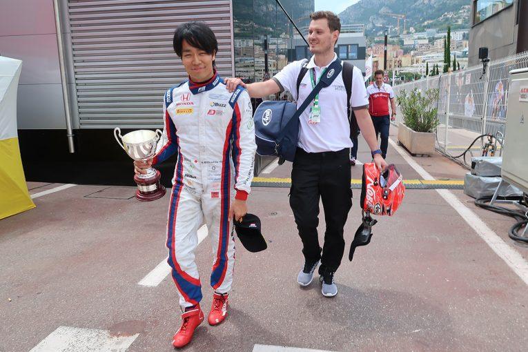 海外レース他 | FIA-F2モナコで初表彰台を獲得した松下信治。「思い切って走り方を変えた。結果を出し続けないと自信はすぐにしぼんでいく」