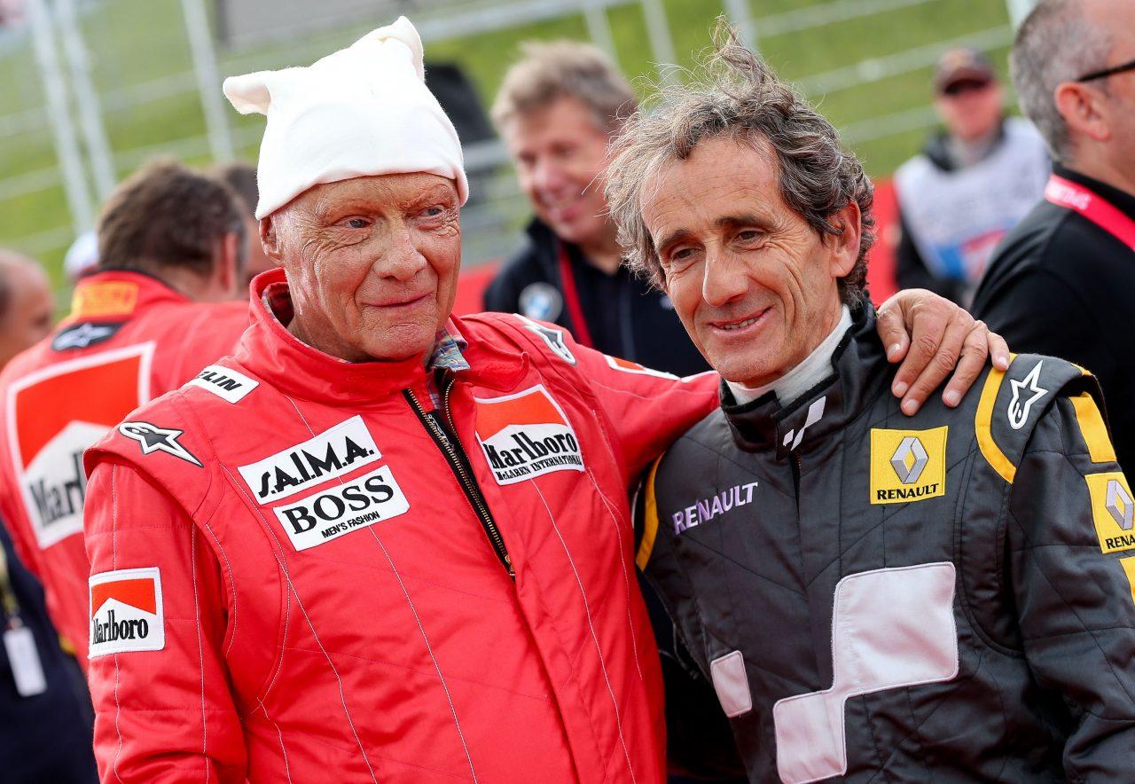 2015年F1オーストリアGPでのラウダとプロスト