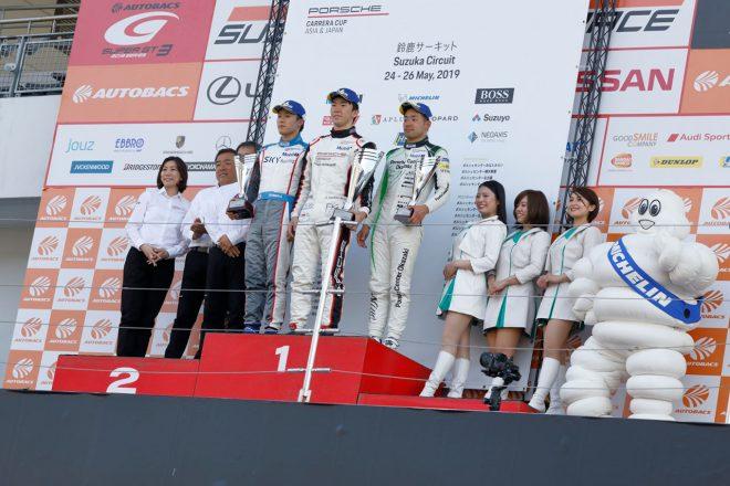 ポルシェカレラカップジャパン2019 第5戦鈴鹿 オーバーオール表彰式