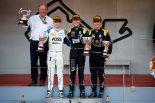 2019年FIA-F2第4戦モナコ アントワーヌ・ユベール(BWTアーデン), ルイス・デルトラズ(カーリン), チョウ・グアンユー(ユニヴィルトゥオーシ)