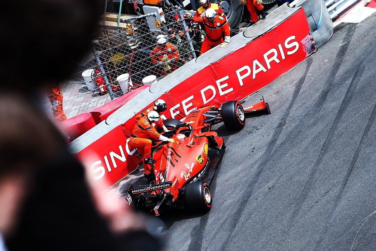 2019年F1第6戦モナコGP セバスチャン・ベッテル(フェラーリ)がFP3でクラッシュ