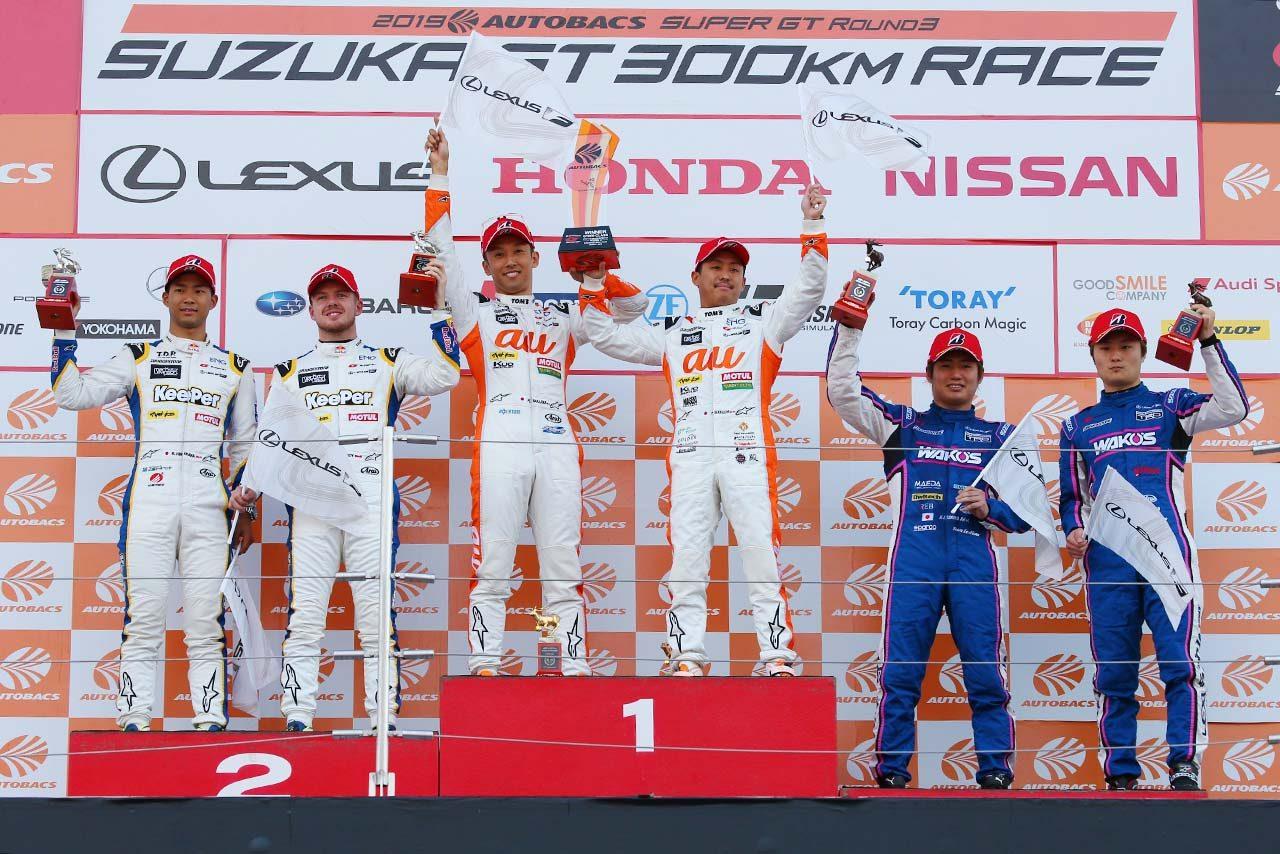 2019年スーパーGT第3戦鈴鹿 GT500クラス表彰台